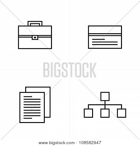 Business  Line Icons Style Design