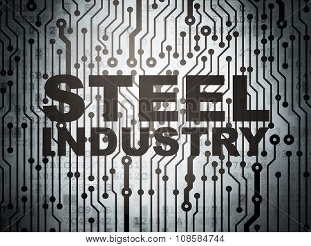 Manufacuring concept: circuit board with Steel Industry