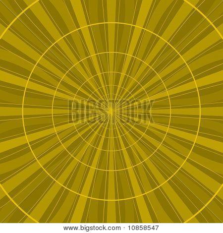Amarillo abstracto de fondo radial