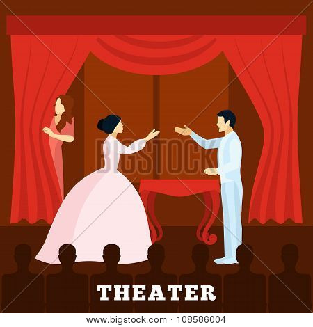 Theatre Stage Performance With Audience poster