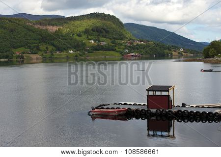 Pier On A Fjord