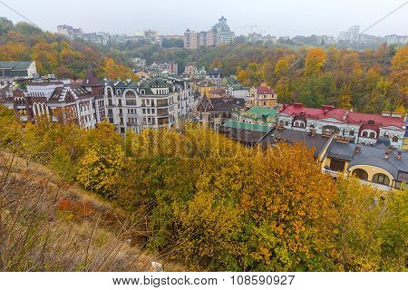 Top View Of The Historical Center Of Kiev