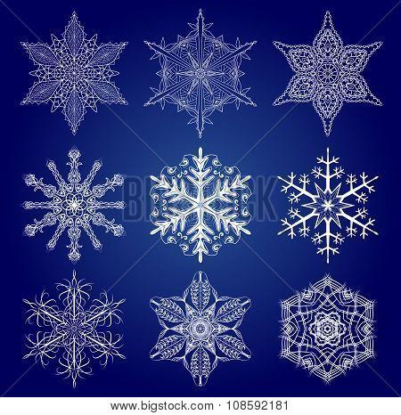 Set Of Snow Flakes