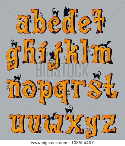 Spooky Halloween Font Uppercase Letters