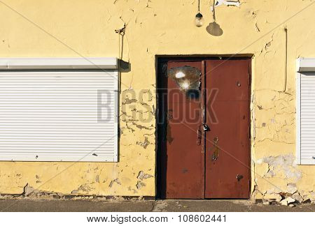 Grunge Locked Door.