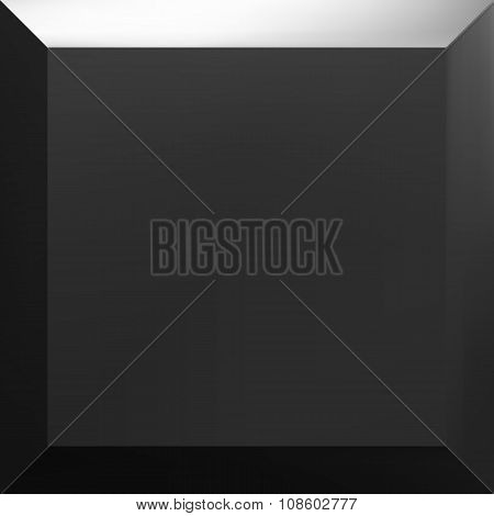 One black abstract square gradient.