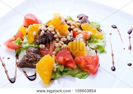 Salad In A White Plate