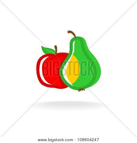 Apple And Pear Logo