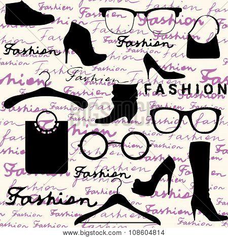 Accessories fashion background