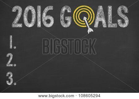 Goals 2016 on Chalkboard