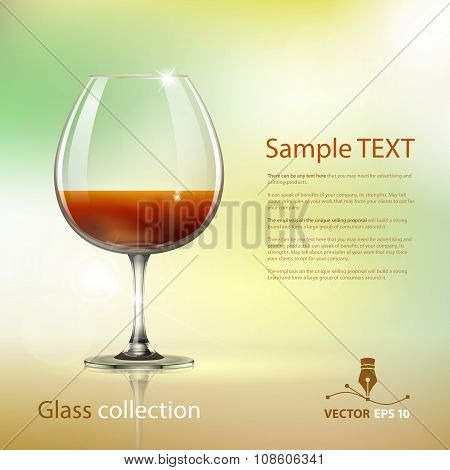 Wine Glass. Vector