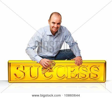 Man Clean Success Plate