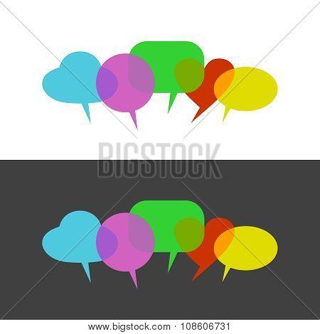 Transparent Color Speak Bubbles