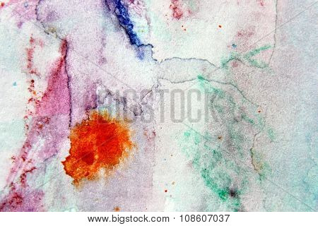 Macro Multi-Colour Watercolor 13