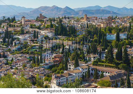 Granada view, Spain.