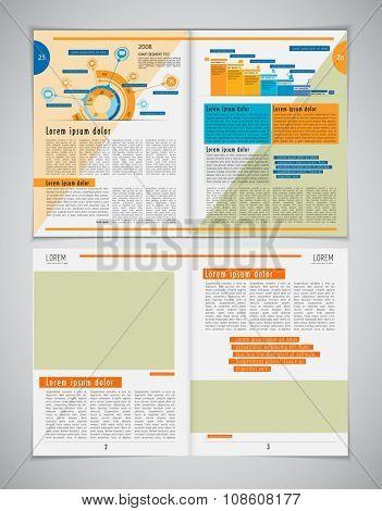 Newspaper template, vector