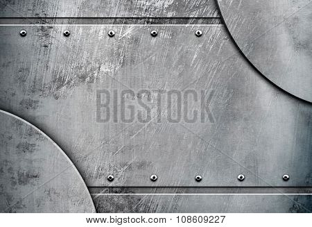 scratched metal template background