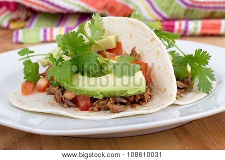 Pulled Pork Soft Taco