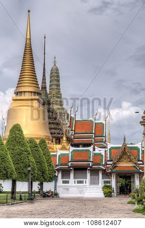 Entrance To The Temple Of The Emerald Buddha  Complex