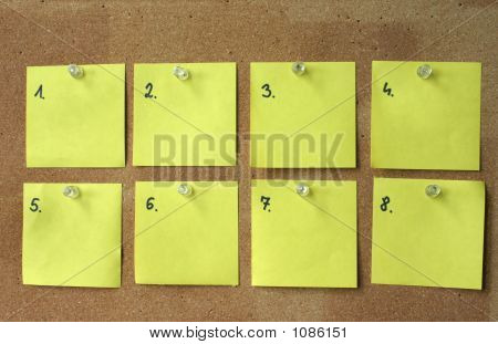 Eight Blank Paper Sheets