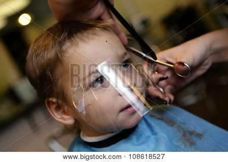Kid Getting Haircut