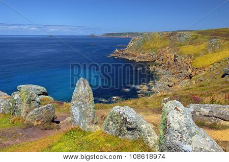 Landscape Of Land's End In Cornwall England