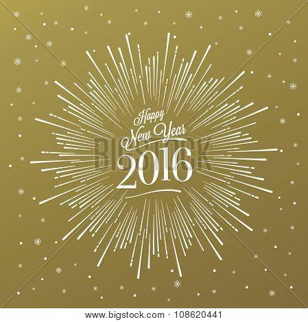 Happy New Year Starburst Gold