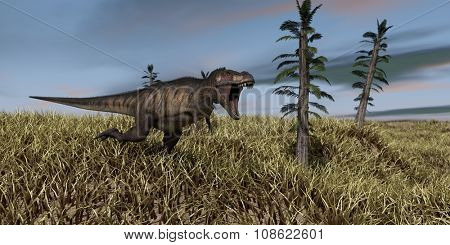 running tyrannosaurus