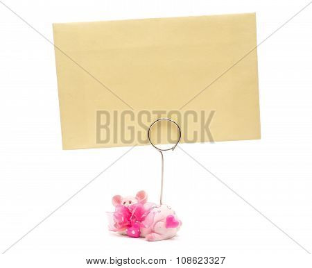 Pink Pig Card Holder