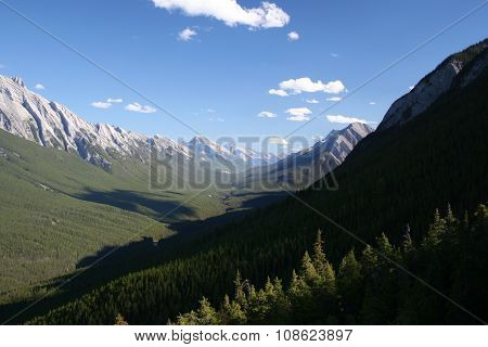 Mountains and valley Banff