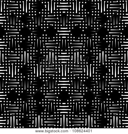 Black And White Abstract Pattern, Background, Texture.