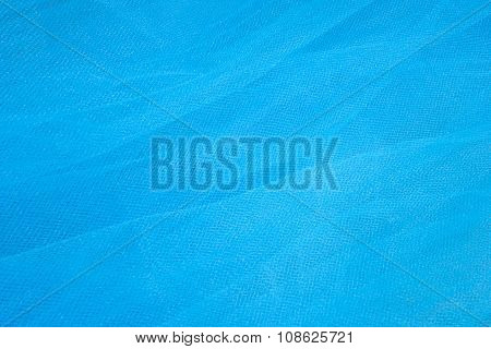 Blue Tulle Fabric Background