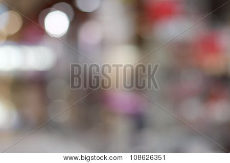 Blurred Background Of Shop
