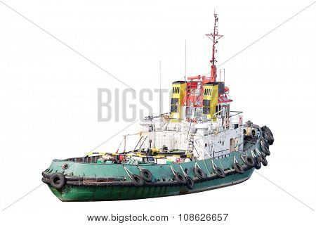 The image of cargo ship isolated