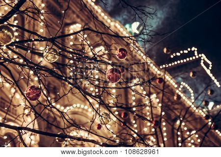 Christmas night in Europe City