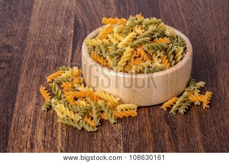 Color  Fusilli Pasta,