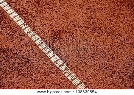Moisture On A Tennis Clay Court