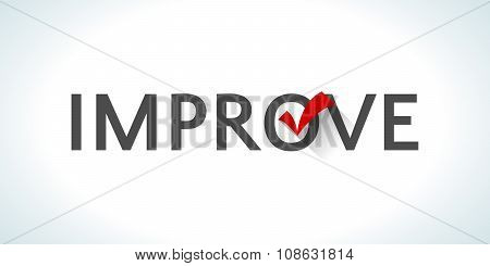 Word improve isolated on white background