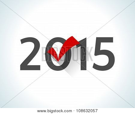 2015 written on white background with a red check mark.