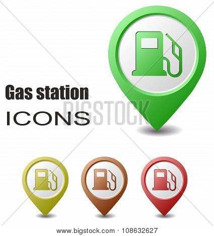 Set Gas Station Map Pointers