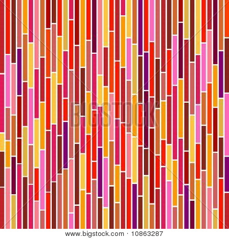 Abstract Stripes In Hot Colours