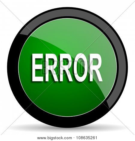 error green web glossy circle icon on white background