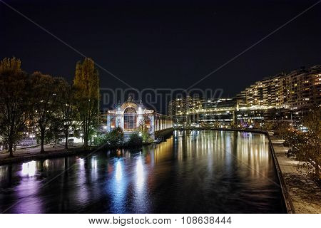 Switzerland, Swiss, lake, mountain, coast, River, night, lakeside, europe, Alps, landmark, attractio