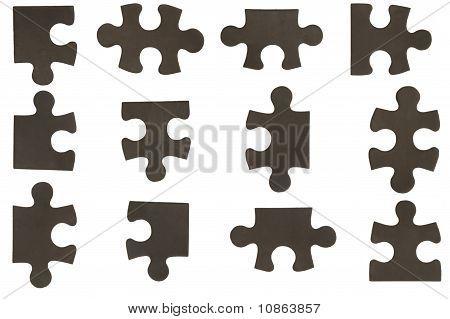 Diferentes piezas negro