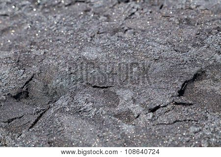 Closeup Picture Of Black Volcanic  Sand