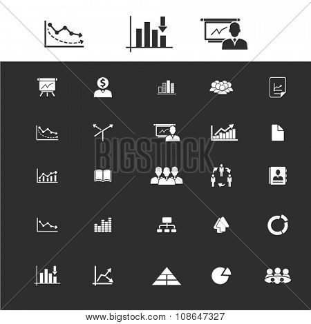 economic statistics, analytics  icons, signs vector set for infographics, mobile, website, application