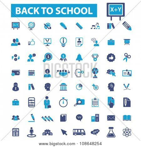 back to school, teacher, mathematics, literature, pupil, lessons  icons, signs vector set for infographics, mobile, website, application
