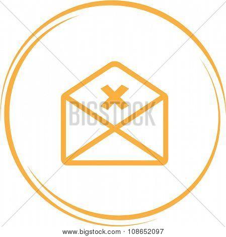 mail cancel. Internet button. Vector icon.