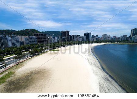 Aerial View of Botafogo Beach, Rio de Janeiro, Brazil