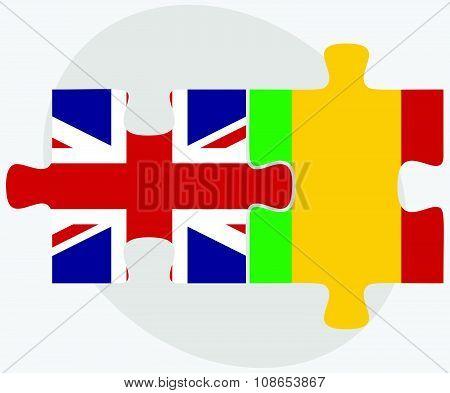 United Kingdom And Mali Flags